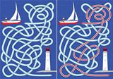 Sailboat maze