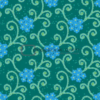 abstract flowers floral forget-me-not seamless background