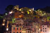 Riomaggiore buildings at night
