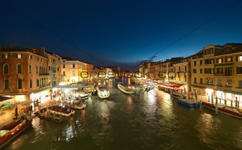 Venice at night