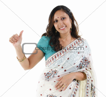 Thumb up Indian woman