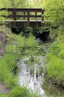 Small Creek with a Bridge