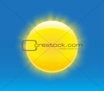 Photorealistic sun
