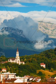 Annecy Basicila Visitation Church Alps V