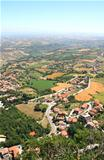 Beautiful Italian landscape. View from San Marino