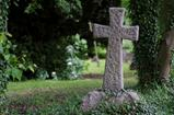 Stone Cross in Graveyard