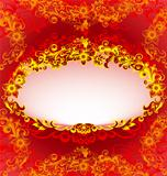Decorative Red Floral Frame