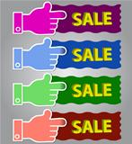 Coloured shopping vector label/sticker set