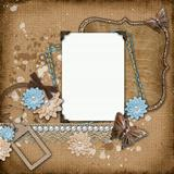 vintage background with old frames