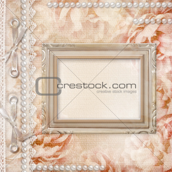 Grunge Beautiful Roses Background with frame( 1 of set)