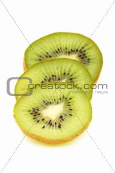 Kiwi sliced ??into circles.