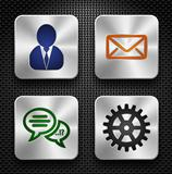 Steel app icons set