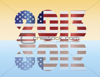 New Year 2013 USA Flag Illustration