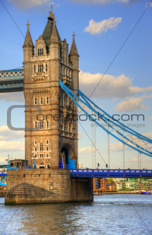 Tower Bridge in London on Summer day