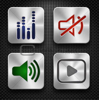 Audio icons set