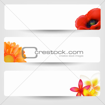 Banners With Flowers