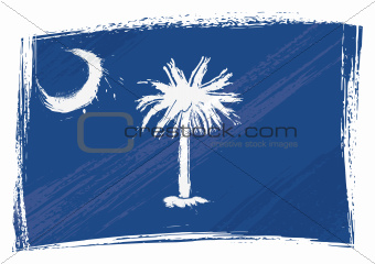 Grunge South Carolina flag