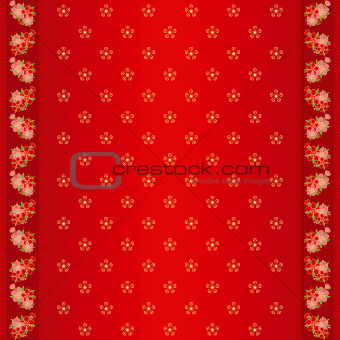 Oriental Chinese seamless pattern and ornate frame