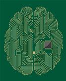 Motherboard brain with computer chip