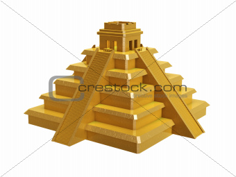 golden mayan pyramid