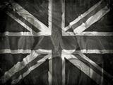 Grunge Union Jack flag background
