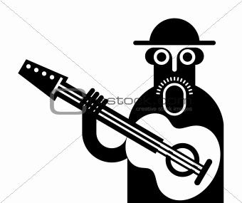 Guitarist vector icon