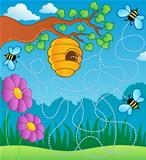 Bee theme maze