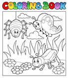 Coloring book bugs theme image 1