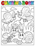 Coloring book bugs theme image 3