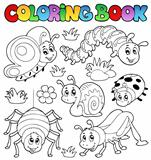 Coloring book cute bugs 1