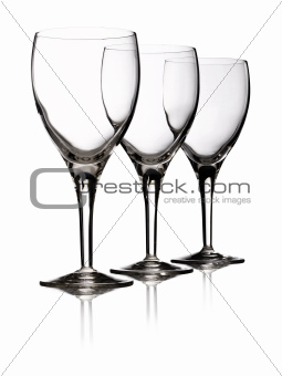 Three glasses red wine