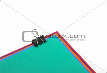 Color papers and black clip