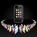 Smartphone apps icons presentation