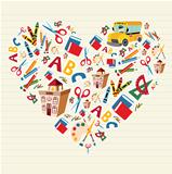 Back to school love heart