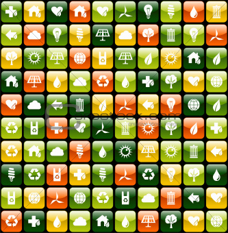 Green environment app icon pattern background