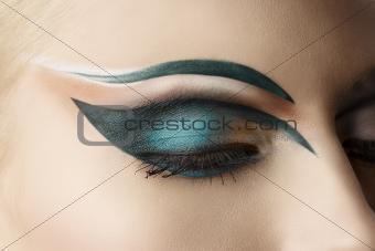 closed eye closeup with makeup