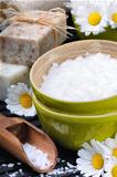 Sea salt, soap and daisies