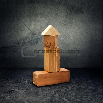 Wooden brick puzzle