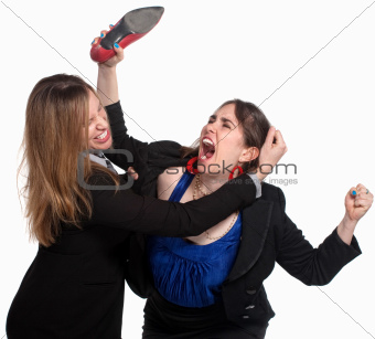 Female Workers Fighting