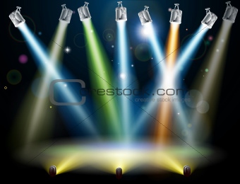 Dance floor or stage lights