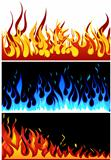 fire background set