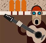 Musician - vector illustration