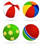 set  of beach balls
