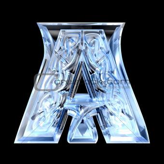 3d illustration of Celtic alphabet letter A