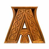 3d illustration of Celtic alphabet letter A