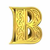3d illustration of Celtic alphabet letter B
