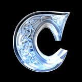 3d made - illustration of Celtic alphabet letter C