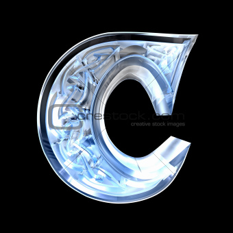 3d made - illustration of Celtic alphabet letter C