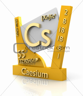 Caesium form Periodic Table of Elements - V2