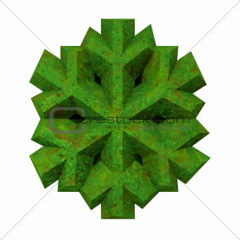 3D made - Snowflake in grass
